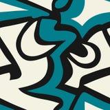 Χρωματισμένη διανυσματική απεικόνιση σύστασης γκράφιτι άνευ ραφής Στοκ Φωτογραφίες