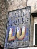 Χρωματισμένη διαφήμιση για το εργοστάσιο LU de Νάντη μπισκότων στοκ εικόνες