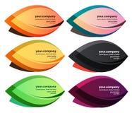 Χρωματισμένη επαγγελματική κάρτα φύλλων απεικόνιση αποθεμάτων