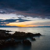 Χρωματισμένη θάλασσα Στοκ Εικόνες