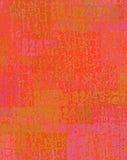 Χρωματισμένη θηρίο πηγή βουρτσών και ρόδινο πορτοκάλι σκηνικού αριθμού Στοκ Φωτογραφία