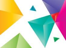 Χρωματισμένη διάνυσμα περίληψη τριγώνων Στοκ εικόνες με δικαίωμα ελεύθερης χρήσης