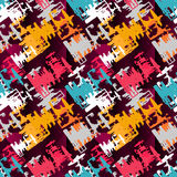 Χρωματισμένη διανυσματική απεικόνιση σύστασης γκράφιτι άνευ ραφής Στοκ φωτογραφίες με δικαίωμα ελεύθερης χρήσης