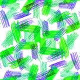 Χρωματισμένη κακογραφία μολυβιών Στοκ Εικόνες