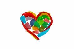 Χρωματισμένη καρδιά Στοκ φωτογραφίες με δικαίωμα ελεύθερης χρήσης
