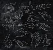 Χρωματισμένη κιμωλία χεριών Στοκ Φωτογραφία