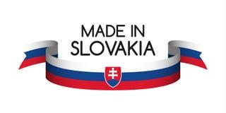 Χρωματισμένη κορδέλλα το σλοβάκικο tricolor, που κατασκευάζεται με στη Σλοβακία Στοκ Εικόνες