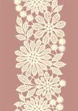 Χρωματισμένη κρητιδογραφία δαντέλλα Κάθετο άνευ ραφής σχέδιο Στοκ Εικόνες