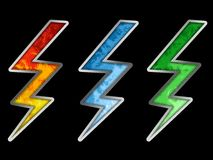 χρωματισμένη λάμψη Στοκ Εικόνες