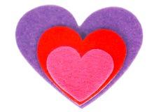 Χρωματισμένη μορφή καρδιών Στοκ Εικόνες