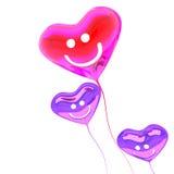 χρωματισμένη μπαλόνι καρδιά πολυ Στοκ Εικόνες
