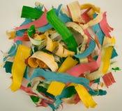 Χρωματισμένη ξύλινη περίληψη ξεσμάτων Στοκ φωτογραφία με δικαίωμα ελεύθερης χρήσης