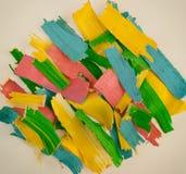 Χρωματισμένη ξύλινη περίληψη ξεσμάτων Στοκ Εικόνες