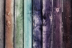 Χρωματισμένη ξύλινη ταπετσαρία υποβάθρου σανίδων Στοκ Εικόνες