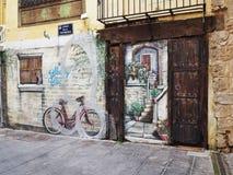 Χρωματισμένη οδός στοκ φωτογραφία
