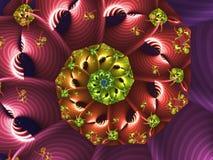 Χρωματισμένη ουράνιο τόξο αφηρημένη σπείρα ελεύθερη απεικόνιση δικαιώματος