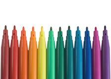 χρωματισμένη πέννα δεικτών Στοκ εικόνα με δικαίωμα ελεύθερης χρήσης