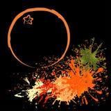 Χρωματισμένη περίληψη του πορτοκαλιού με τους λεκέδες, διανυσματική απεικόνιση Στοκ φωτογραφία με δικαίωμα ελεύθερης χρήσης