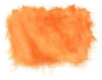 Χρωματισμένη πορτοκαλιά ανασκόπηση watercolor Στοκ Φωτογραφία