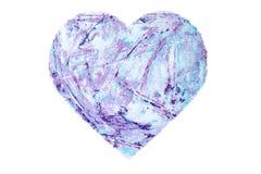 Χρωματισμένη πορφυρή καρδιά απεικόνιση αποθεμάτων
