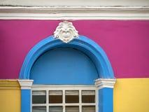 Χρωματισμένη πρόσοψη σπιτιών Στοκ Φωτογραφία