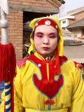 χρωματισμένη πρόσωπο γυναίκα Στοκ Εικόνες