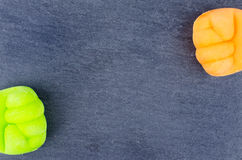Χρωματισμένη πυγμή Στοκ Εικόνες