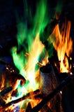 Χρωματισμένη πυρά προσκόπων Στοκ εικόνα με δικαίωμα ελεύθερης χρήσης