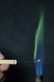 Χρωματισμένη πυρκαγιά Στοκ Εικόνες