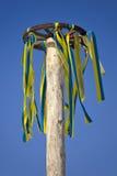 χρωματισμένη ρόδα κορδελλών στοκ εικόνα με δικαίωμα ελεύθερης χρήσης
