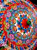 Χρωματισμένη ρόδα βαγονιών εμπορευμάτων στη Κόστα Ρίκα Στοκ εικόνα με δικαίωμα ελεύθερης χρήσης
