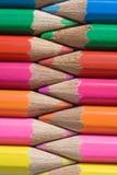 χρωματισμένη σειρά μολυβιών στοκ εικόνες