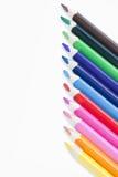 χρωματισμένη σειρά μολυβ&iot Στοκ φωτογραφίες με δικαίωμα ελεύθερης χρήσης