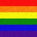 Χρωματισμένη σημαία ουράνιων τόξων Στοκ φωτογραφία με δικαίωμα ελεύθερης χρήσης
