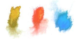Χρωματισμένη σκόνη Στοκ Φωτογραφία