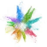 Χρωματισμένη σκόνη Στοκ φωτογραφίες με δικαίωμα ελεύθερης χρήσης