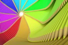 Χρωματισμένη σπείρα μολυβιών Στοκ εικόνες με δικαίωμα ελεύθερης χρήσης