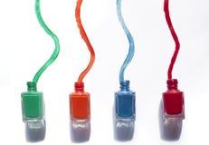 χρωματισμένη στιλβωτική ουσία καρφιών Στοκ εικόνες με δικαίωμα ελεύθερης χρήσης