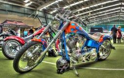 Χρωματισμένη συνήθεια μοτοσικλέτα στοκ εικόνες