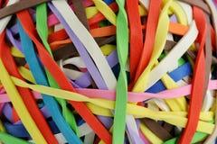 χρωματισμένη σφαίρα μακροεντολή rubberband Στοκ Φωτογραφία