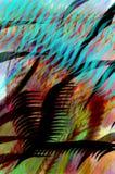 Χρωματισμένη σύγχρονη κινεζική καλλιγραφία βουρτσών Στοκ φωτογραφία με δικαίωμα ελεύθερης χρήσης