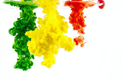 Χρωματισμένη υγρή κίνηση στοκ φωτογραφία