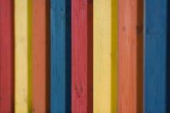 χρωματισμένη φραγή Στοκ εικόνα με δικαίωμα ελεύθερης χρήσης
