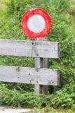 Χρωματισμένη χέρι προειδοποίηση οδικών σημαδιών Στοκ εικόνες με δικαίωμα ελεύθερης χρήσης