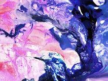 Χρωματισμένη χέρι σύσταση μελανιού το δημιουργικό αφηρημένο χέρι χρωμάτισε το υπόβαθρο, τεμάχιο κινηματογραφήσεων σε πρώτο πλάνο, διανυσματική απεικόνιση