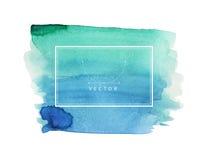 Χρωματισμένη χέρι σύσταση watercolor Στοκ φωτογραφία με δικαίωμα ελεύθερης χρήσης