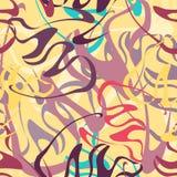 Χρωματισμένη Grunge διανυσματική απεικόνιση σχεδίων γκράφιτι άνευ ραφής Στοκ Εικόνες