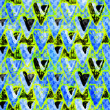 Χρωματισμένη Grunge διανυσματική απεικόνιση σχεδίων γκράφιτι άνευ ραφής Στοκ Φωτογραφίες