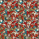 Χρωματισμένη Grunge διανυσματική απεικόνιση σχεδίων γκράφιτι άνευ ραφής Στοκ Εικόνα