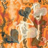 Χρωματισμένη Grunge διανυσματική απεικόνιση σχεδίων γκράφιτι άνευ ραφής Στοκ φωτογραφία με δικαίωμα ελεύθερης χρήσης